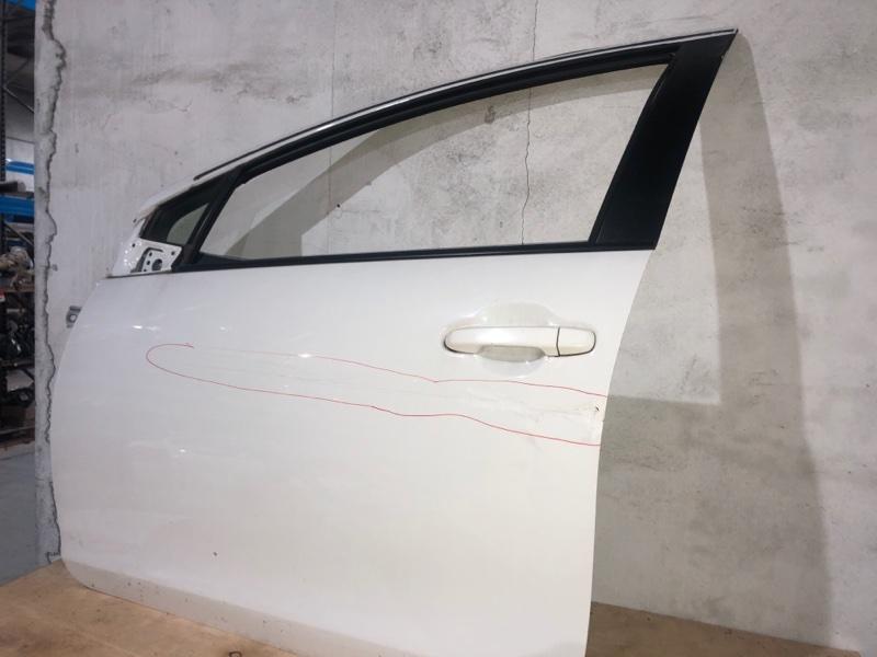 Дверь боковая Toyota Aqua NHP10 1NZFXE 2014 передняя левая (б/у)