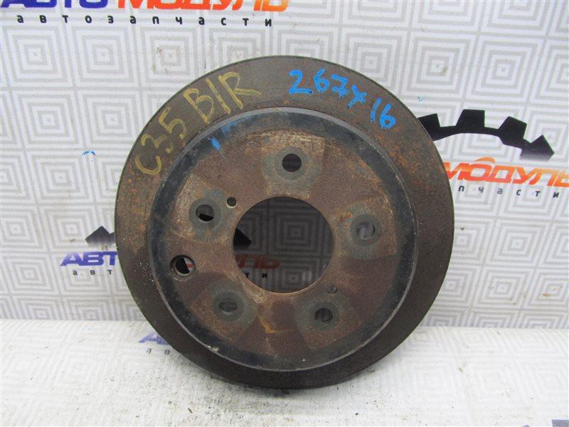 Диск тормозной Nissan Laurel HC35 задний