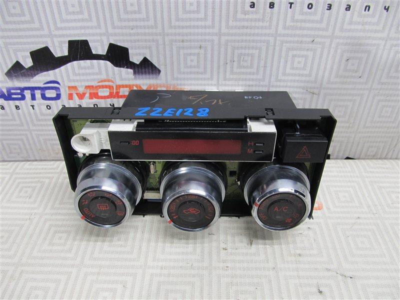 Блок управления климат-контролем Toyota Will Vs ZZE128-0001707 2ZZ-GE 2001