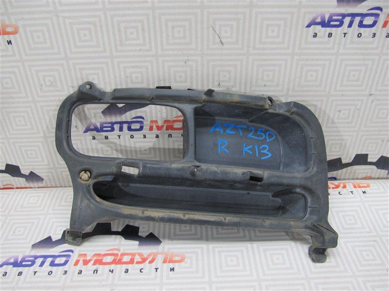 Заглушка бампера Toyota Avensis AZT250-0026207 1AZ-FSE 2004 правая