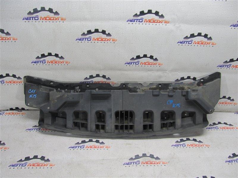 Защита бампера Nissan Tiida C11 передняя