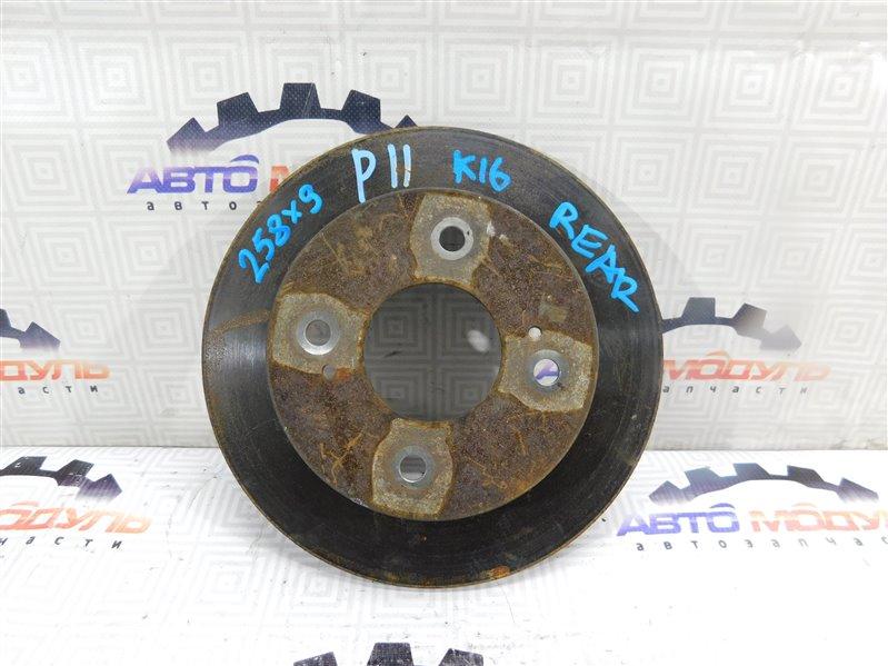 Диск тормозной Nissan Primera HNP10 задний