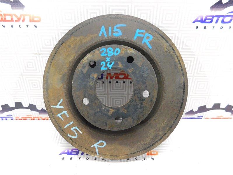 Диск тормозной Nissan Juke YF15 передний