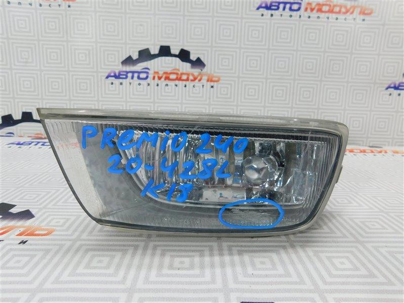 Туманка Toyota Premio AZT240 левая