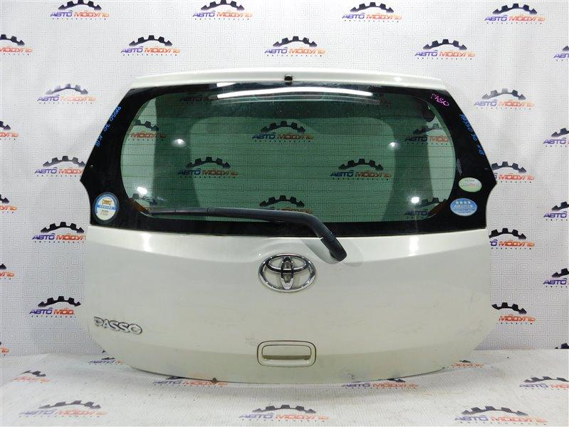 Дверь 5-я Toyota Passo KGC30 задняя