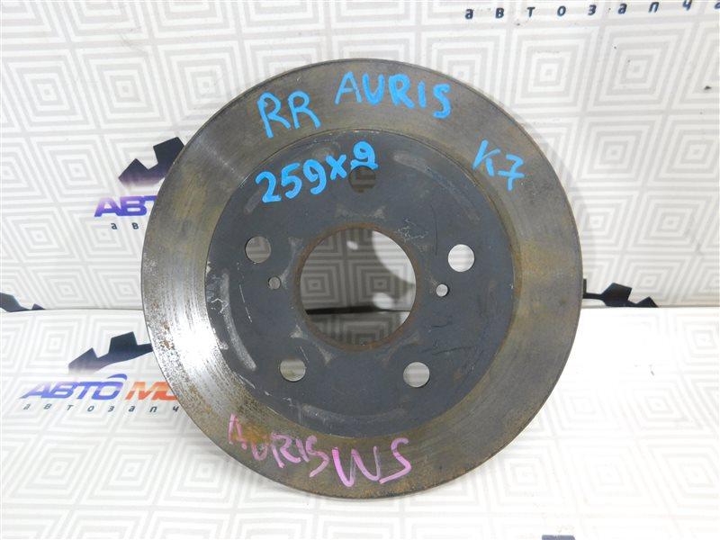 Диск тормозной Toyota Auris NZE151 задний