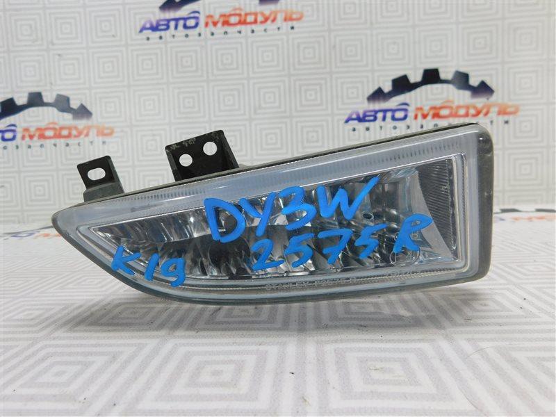 Туманка Mazda Demio DY3W правая