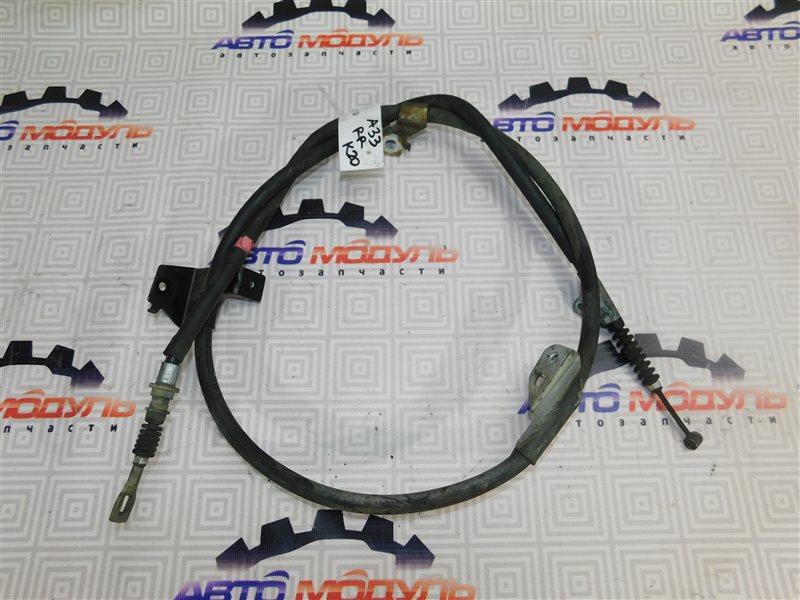 Тросик ручника Nissan Cefiro A33-003703 VQ20-DE 1999 задний правый