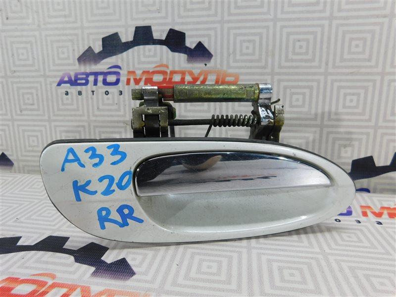 Ручка двери Nissan Cefiro A33-003703 VQ20-DE 1999 задняя правая
