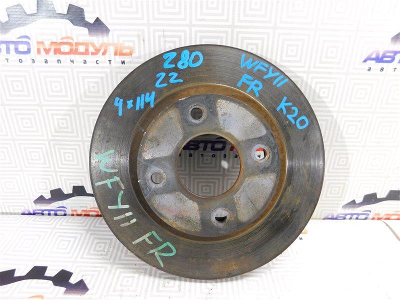 Диск тормозной Nissan Wingroad WP11 передний