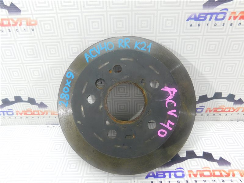 Диск тормозной Toyota Camry ACV40-3001591 2AZ-FE 2006 задний