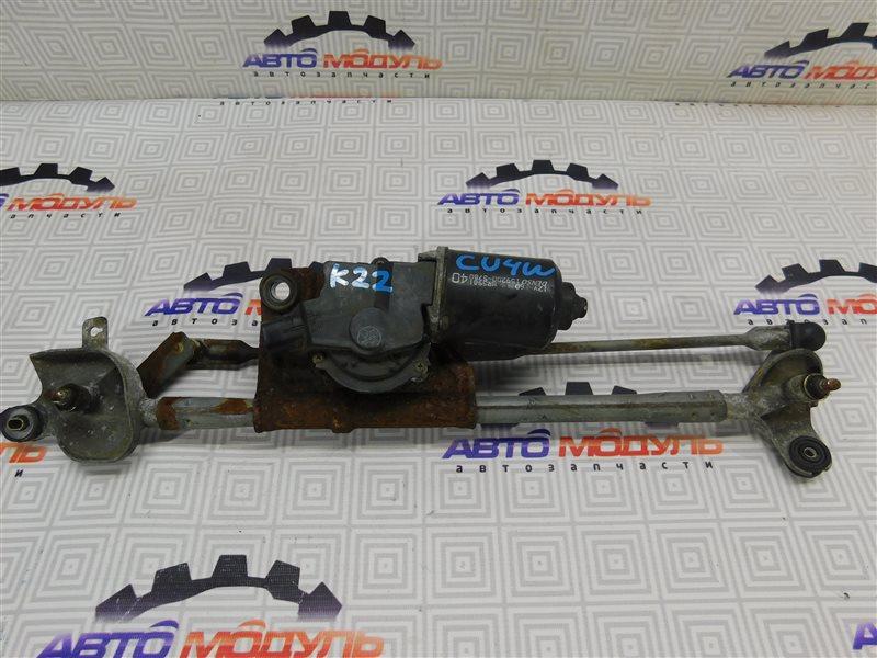 Мотор дворников Mitsubishi Airtrek CU4W-0100389 4G64 2002 передний