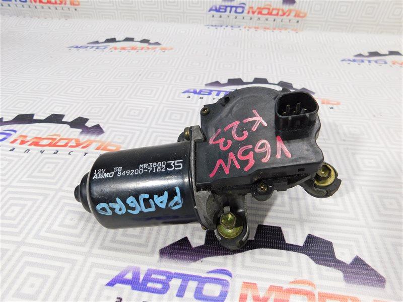 Мотор дворников Mitsubishi Pajero V65W-0002221 6G74 2000 передний