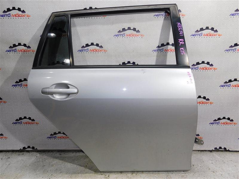 Дверь Toyota Corolla Fielder NZE141-9018138 1NZ-FE 2007 задняя правая