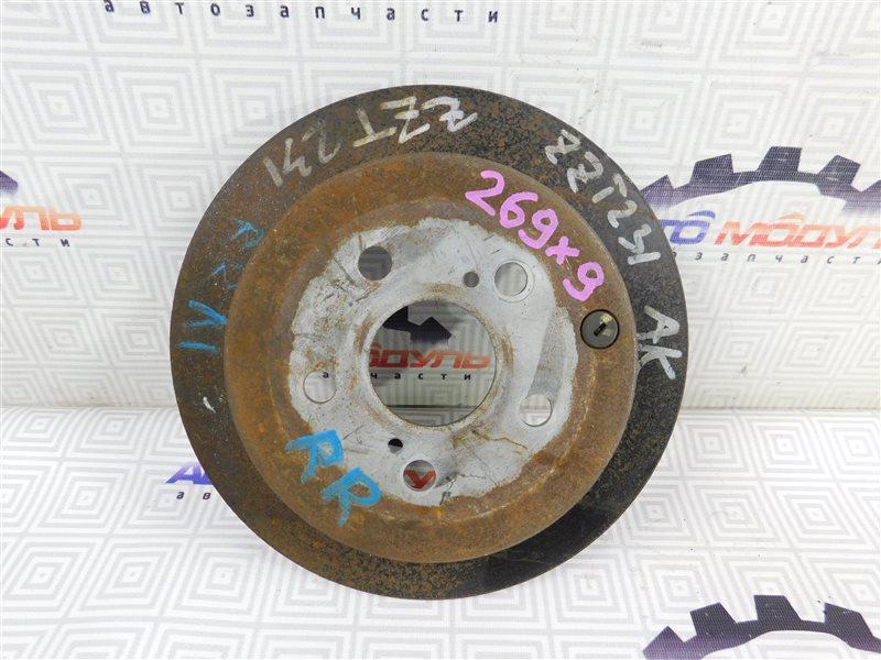 Диск тормозной Toyota Celica ZZT231 задний