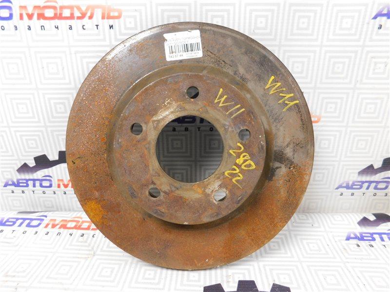 Диск тормозной Nissan Avenir W11 передний