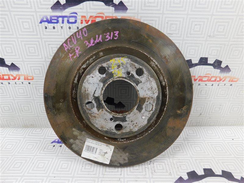 Диск тормозной Toyota Camry ACV40 передний