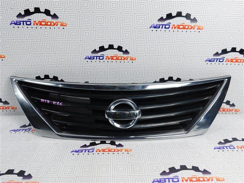 Решетка радиатора Nissan Latio N17-001657 HR12-DE 2012