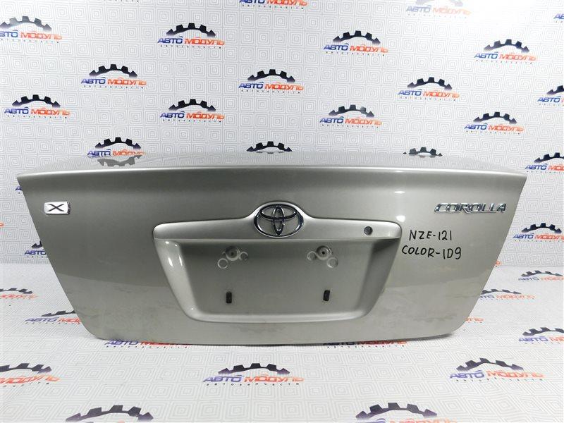 Крышка багажника Toyota Corolla NZE121-0124933 1NZ-FE 2002 задняя