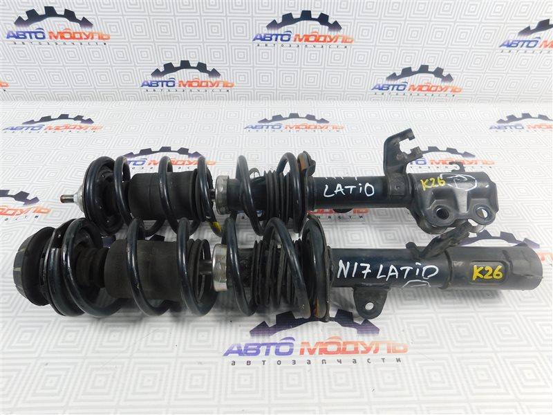 Стойка Nissan Latio N17-001657 HR12-DE 2012 передняя правая