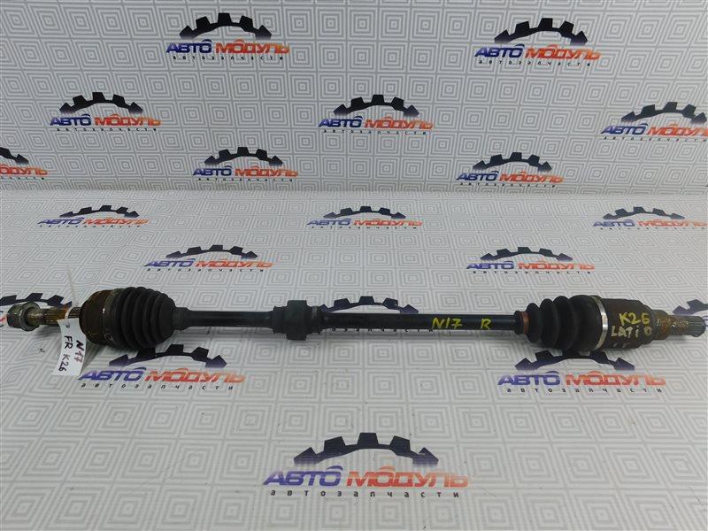 Привод Nissan Latio N17-001657 HR12-DE 2012 передний правый