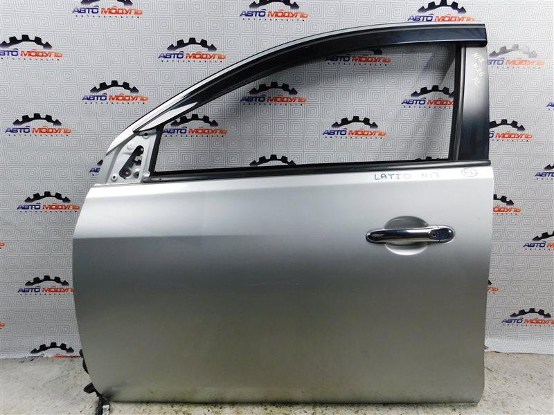 Дверь Nissan Latio N17-001657 HR12-DE 2012 передняя левая