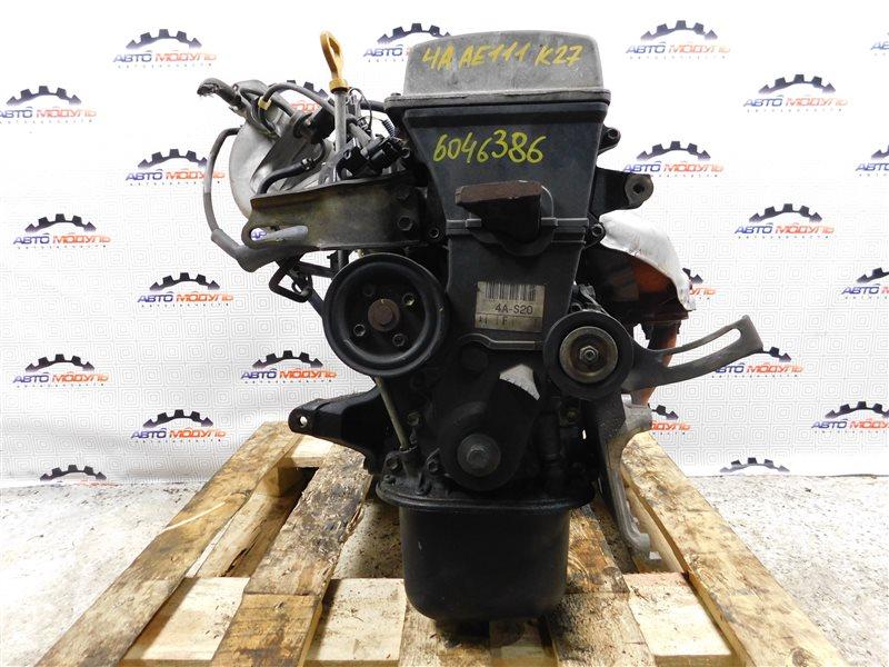 Двигатель Toyota Corolla Spacio AE111-6046386 4A-FE 1997