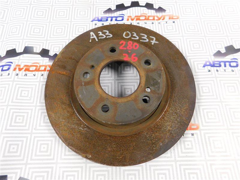 Диск тормозной Nissan Cefiro PA33 передний