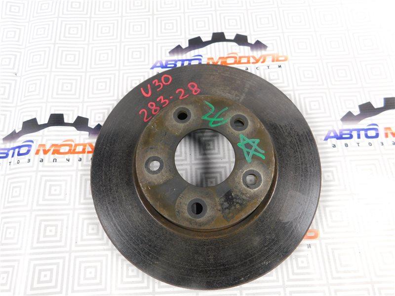 Диск тормозной Nissan Presage U30 передний