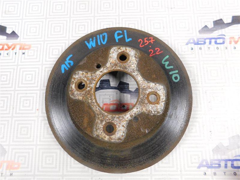 Диск тормозной Nissan Avenir W10 передний