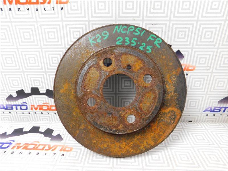 Диск тормозной Toyota Succeed NCP51-0071775 1NZ-FE 2004 передний