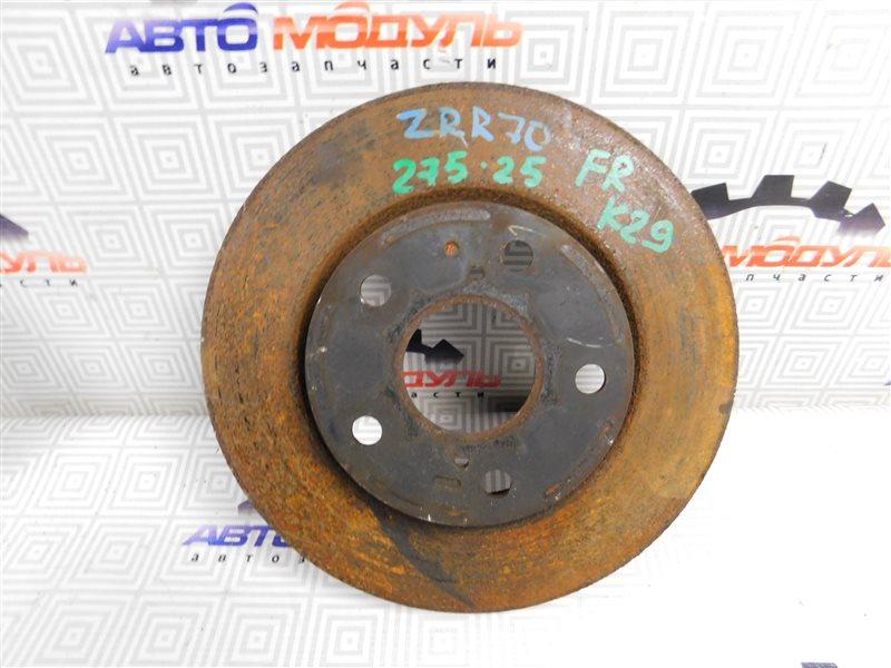 Диск тормозной Toyota Voxy ZRR70 передний