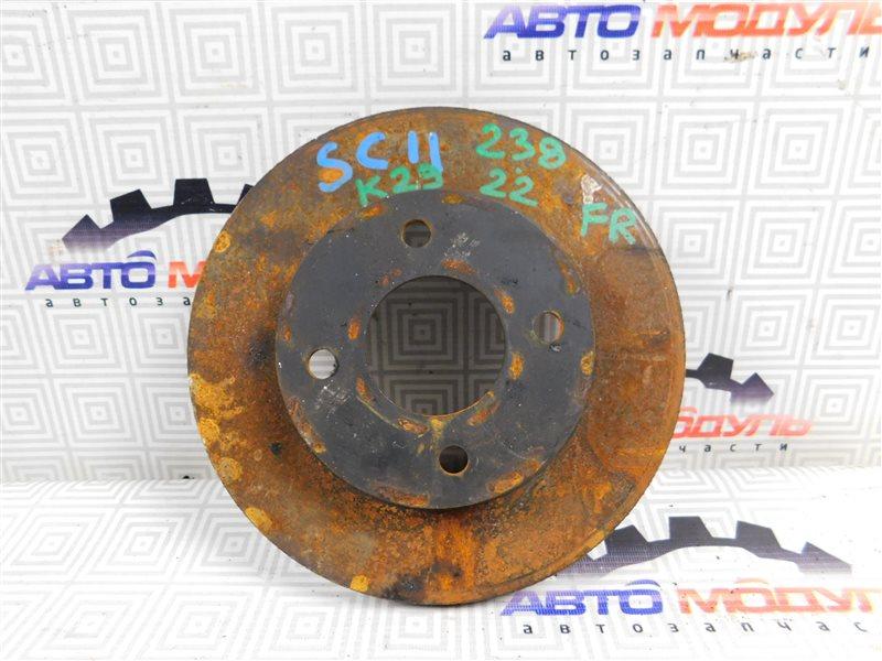 Диск тормозной Nissan Tiida Latio SC11 передний