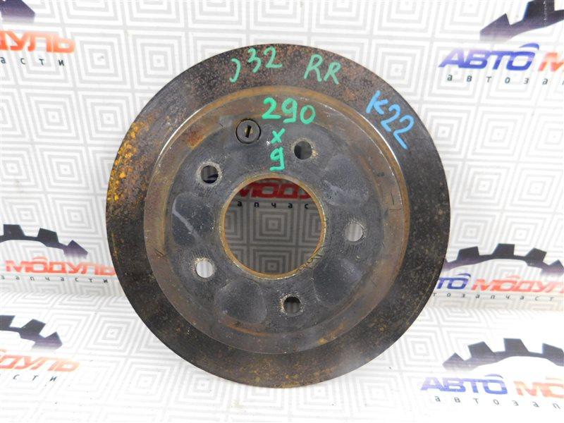 Диск тормозной Nissan Teana J32-013317 VQ25-DE задний