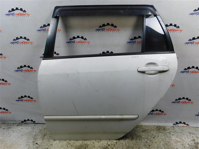 Дверь Toyota Corolla Fielder NZE121-0303325 1NZ-FE 2004 задняя левая