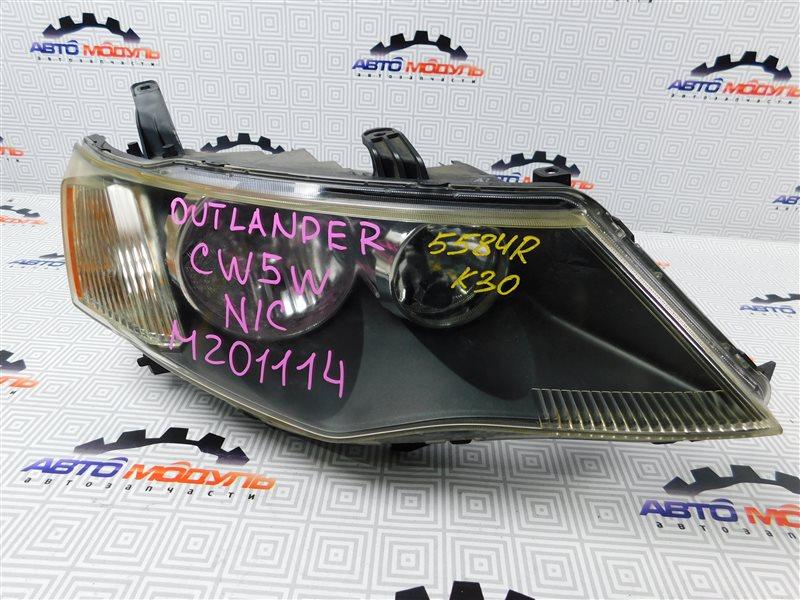 Фара Mitsubishi Outlander CW5W-0009588 4B12 2005 правая