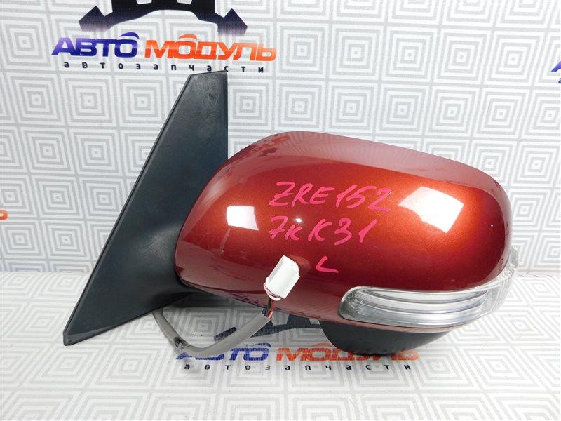 Зеркало Toyota Corolla Rumion ZRE152-1108791 2ZR-FE 2009 левое