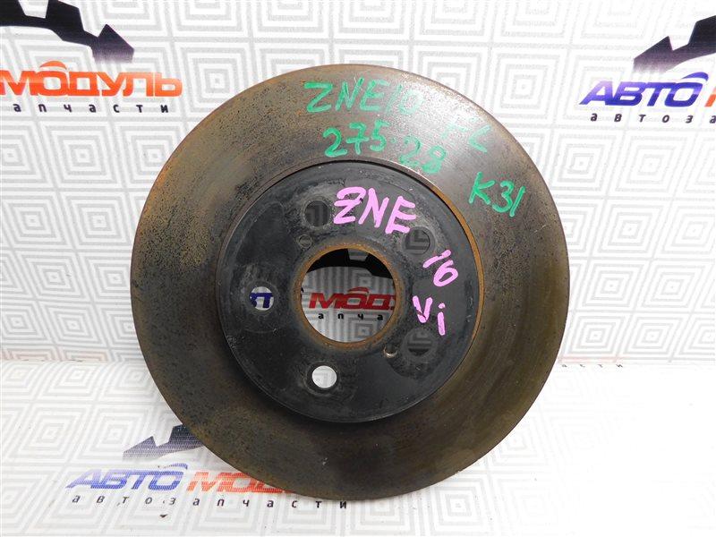 Диск тормозной Toyota Wish ZNE10-0384836 1ZZ-FE 2007 передний