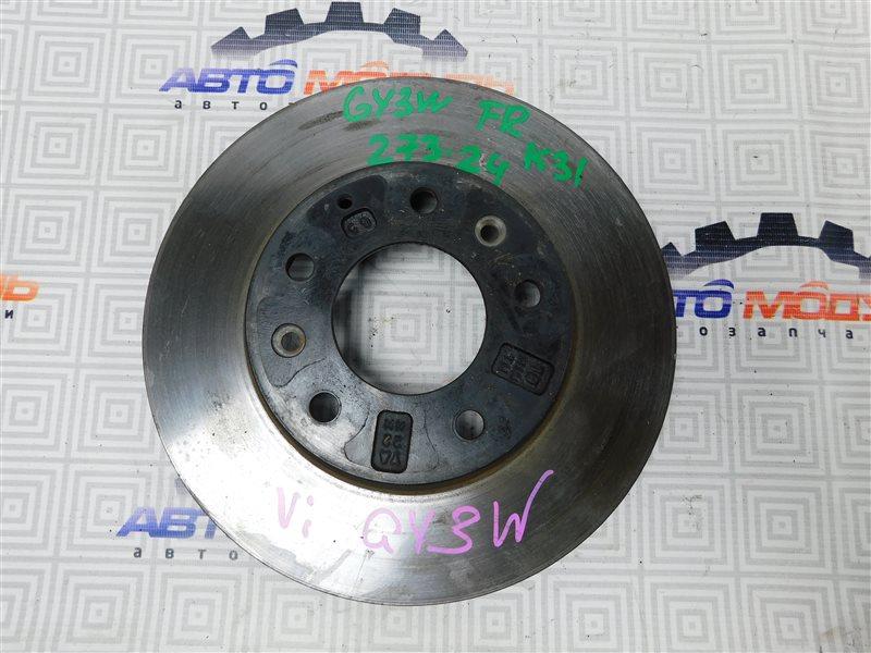 Диск тормозной Mazda Atenza GY3W-504025 L3 2006 передний