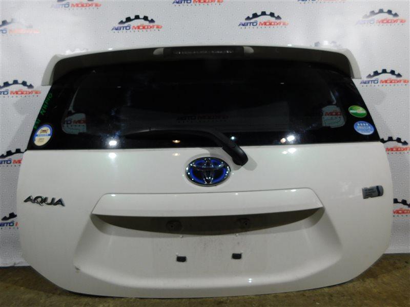 Дверь 5-я Toyota Aqua NHP10-6102815 1NZ-FXE 2012 задняя