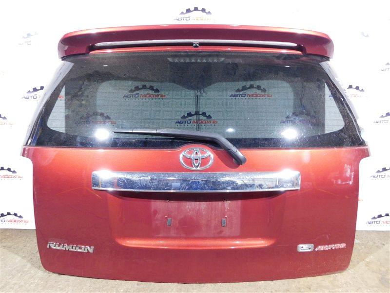 Дверь 5-я Toyota Corolla Rumion ZRE152-1108791 2ZR-FE 2009 задняя