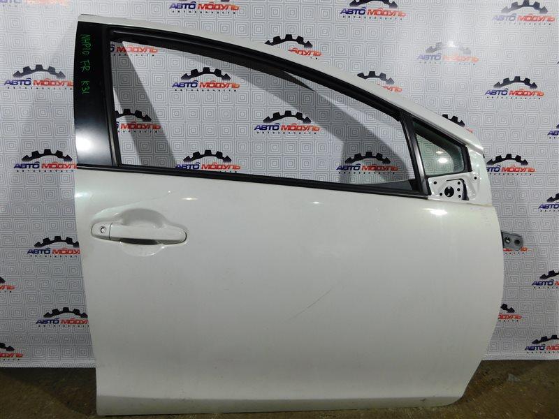 Дверь Toyota Aqua NHP10-6102815 1NZ-FXE 2012 передняя правая