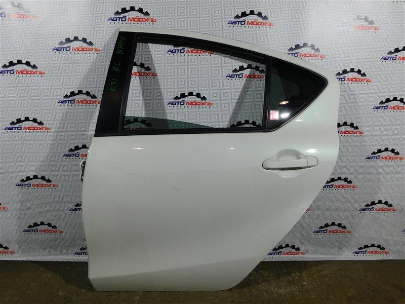 Дверь Toyota Aqua NHP10-6102815 1NZ-FXE 2012 задняя левая