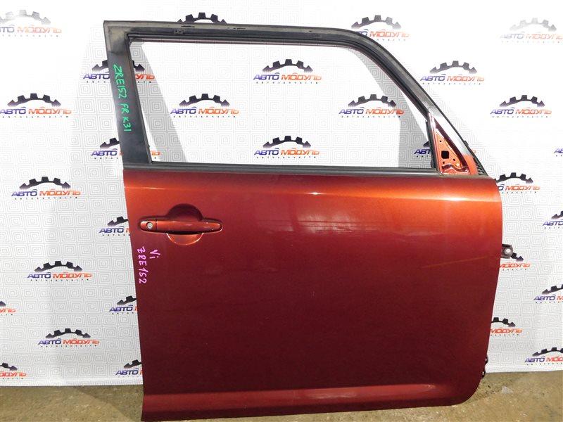 Стекло двери Toyota Corolla Rumion ZRE152-1108791 2ZR-FE 2009 переднее правое