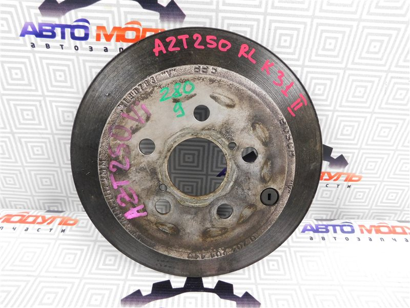 Диск тормозной Toyota Avensis AZT250-0005209 1AZ-FSE 2003 задний