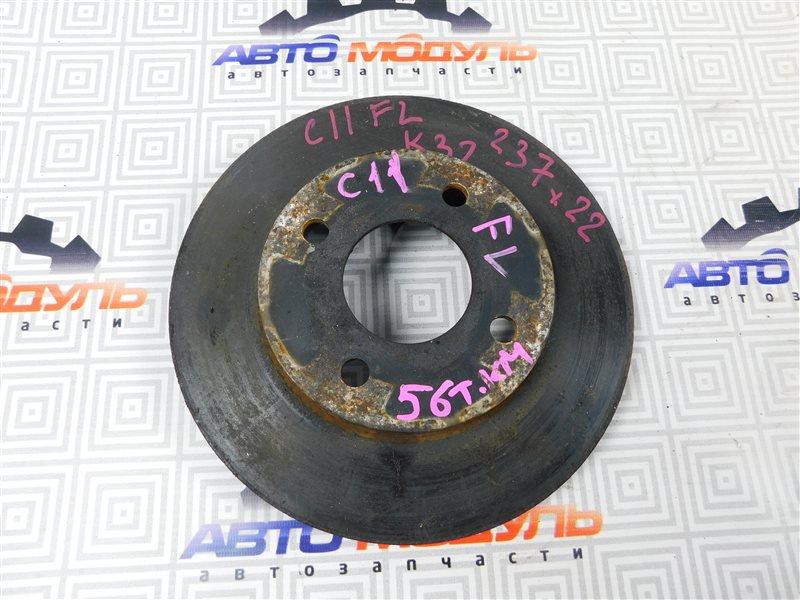 Диск тормозной Nissan Tiida C11 передний