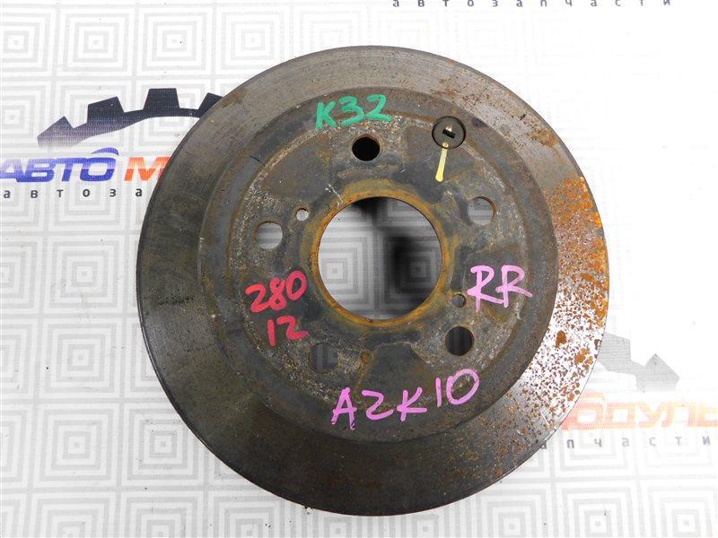Диск тормозной Toyota Sai AZK10-2010787 2AZ-FXE 2010 задний