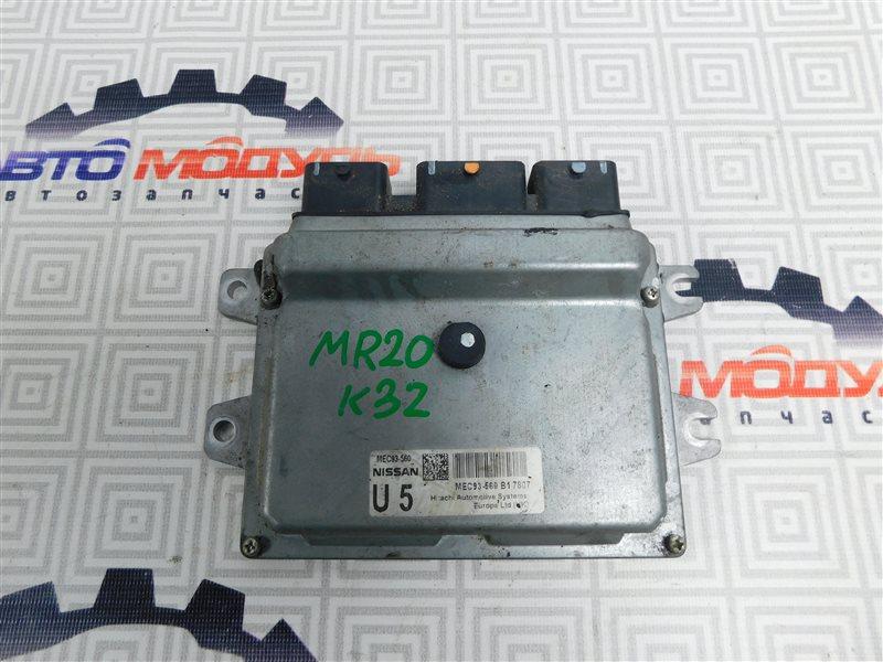 Компьютер двс Nissan Qashqai NJ10 MR20