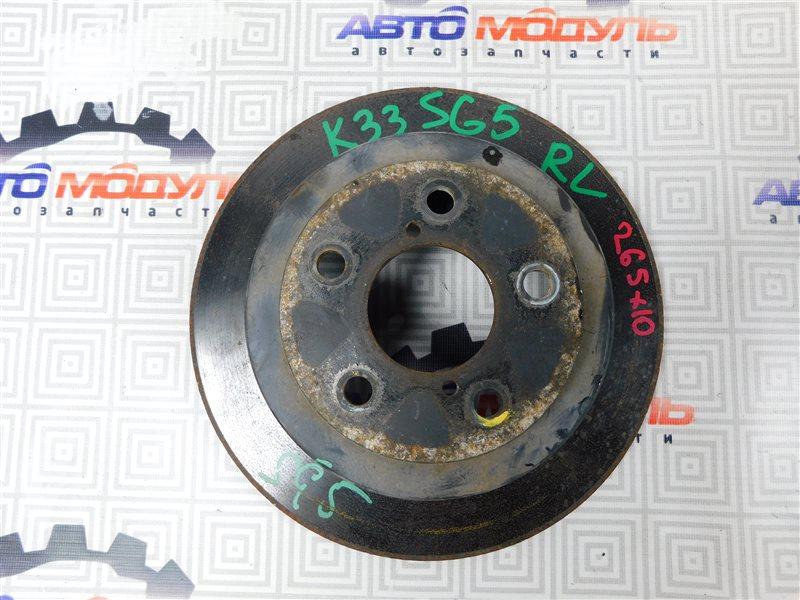 Диск тормозной Subaru Forester SF5 задний