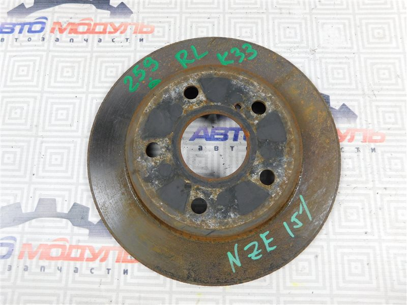 Диск тормозной Toyota Auris NZE151-1052312 1NZ-FE 2008 задний
